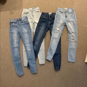 MUDD skinny jeans 4 pair, SIZE 1